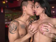Fit milf fuck slut laid by Asian guy