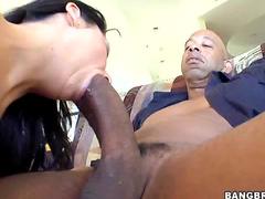 Massive black cock inside her