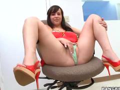 Pretty girl worships cock