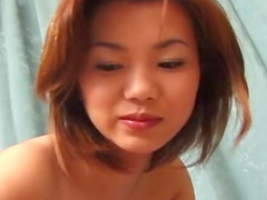 Nasty asian babe Ami is playing with dildo and dick