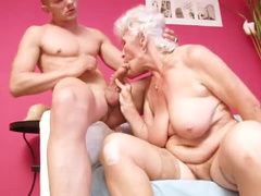 Spicy old chubby mature fucked