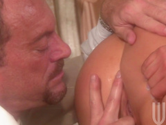 Sweet babe Charisma Cappelli sucks and fucks with gentleman