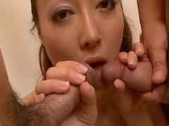 Mai Uzuki loves to feel two tasty dicks in her holes