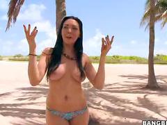 Beach girl for huge cock