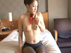 Slender Asian babe Aoi Miyama being impaled
