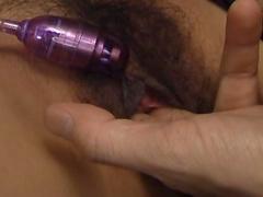 Hardcore brunette Ai Serizawa plays with nice toys