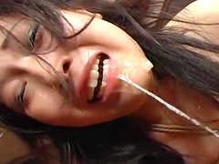 Tied Asian babe is getting humiliated