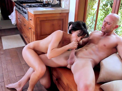 Slender brunette Chanel Preston being raped so hard