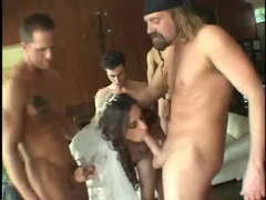 Guys gangbang young bride