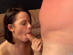 Sweet brunette Shelly Starr is getting drilled in doggy style