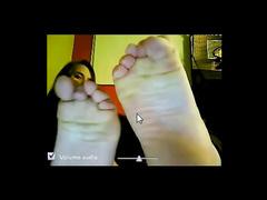 Webcam foot waving cuties