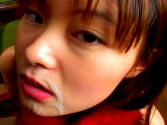 Hot brunette Jun Misaki makes a perfect blowjob