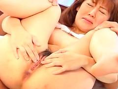 Japanese babe Madoka Hoshino is banging so hard