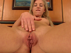 Sexy blonde Gabrielle Hell is poking her tasty vag
