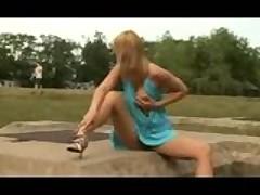 Masturbating in the park