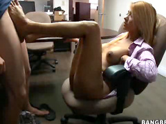 Footjob in the office