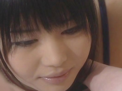 Two sensual Japanese babes are licking each other pusses