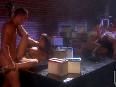 Alektra Blue and Veronica Rayne in the hot foursome
