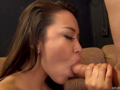 Sexy brunette Lily Lust being fucked in her shaved hole
