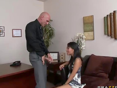 Asian in his office requires cock