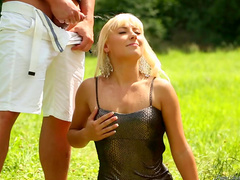 Hardcore pissing and fucking with sexy blonde Nella Elmer