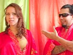 Amateur brunette Jazmin Ortega gets hot cumshot