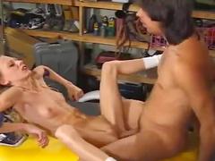 Ass fucked skinny girl