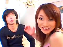 Sweet Asian babe Akari Hoshino fucks after first date