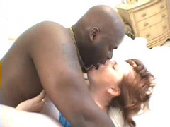 Black man loving that mature