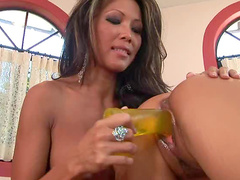 Busty and wonderful Teanna Kai is satisfying her babe