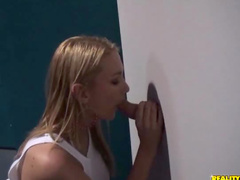Blonde gloryhole suck and fuck