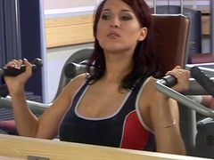 Lea fuck in the asshole at the gym