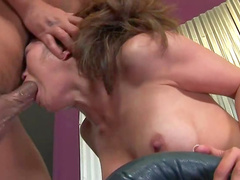 Kaiya Lynn deepthroat blowjob for big cock
