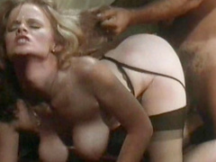 Blonde with big tits gets banged and gives a titjob