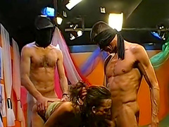 German babes receive a load of cum in their mouths