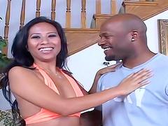 Asian Nyomi Marcela interracial hardcore