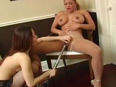 Asian girl finger bangs busty slut