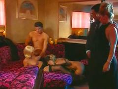 Glamorous group sex scenes