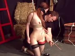 Petite Asian in BDSM abuse scene