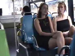 Upskirts on a bus