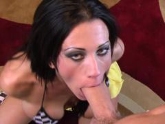 Big-tit chick Tanya James gives a nasty deepthtpat blowjob