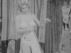 Pretty nice milf blonde poses in lingerie