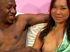 Huge cock reams out Asian sweetheart