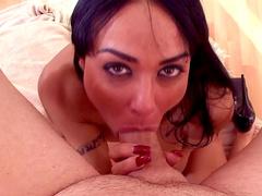 Sensual Mahina Zaltana gets cum in her mouth