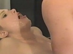 Vintage Chick Sprayed With A Load