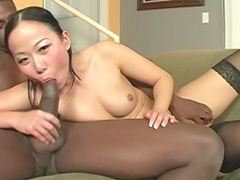 Asian interracial with big black cock