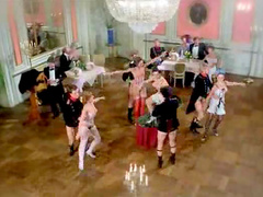 Vintage dancing and hardcore orgy