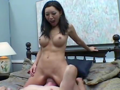 Hot facesitting and smothering with Asian