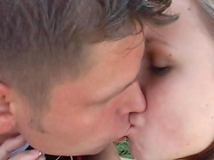 69 sex outdoors with pretty young blonde