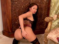 Asian model Danika demonstrates her sexy body
